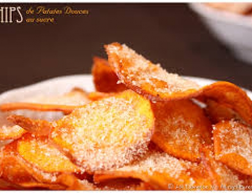 chips de patates douces au sucre « special haloween »